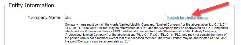 Arkansas LLC Company Name Search
