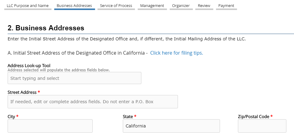 CA LLC Business Address Registration