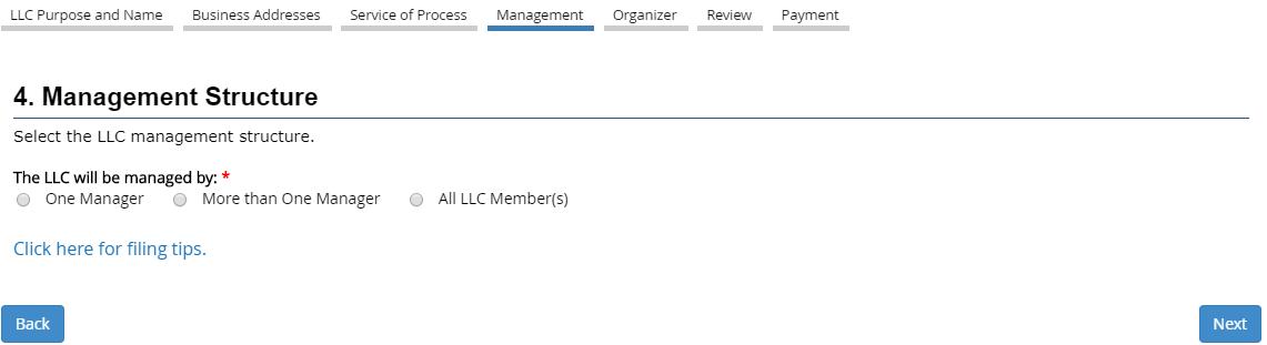 CA LLC Management Structure