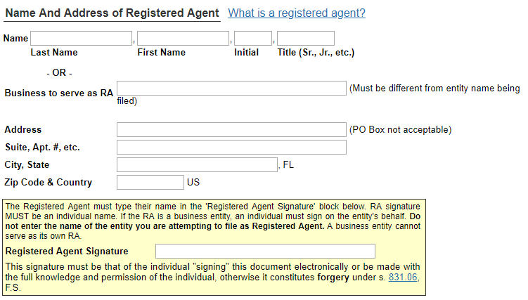Florida LLC Registered Agent