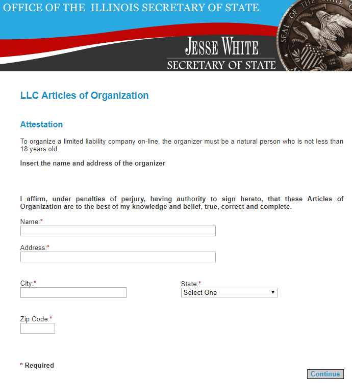 Illinois LLC Organizer Signature