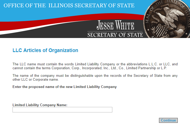 Illinois LLC Register Name