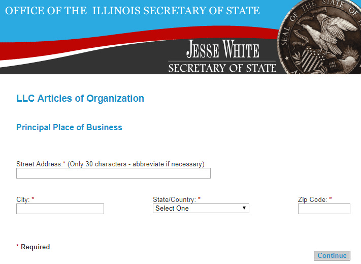 Illinois Limited Liability Company Principal Place of Business