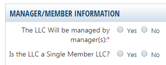 Indiana LLC Manager Member-Managed LLC