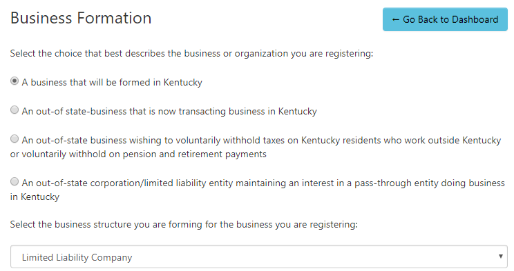 Kentucky LLC Business Formation