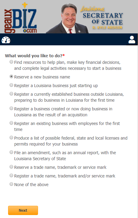 Louisiana LLC Register a Business Name