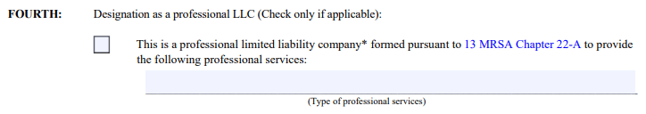 Maine LLC Professional License Designation