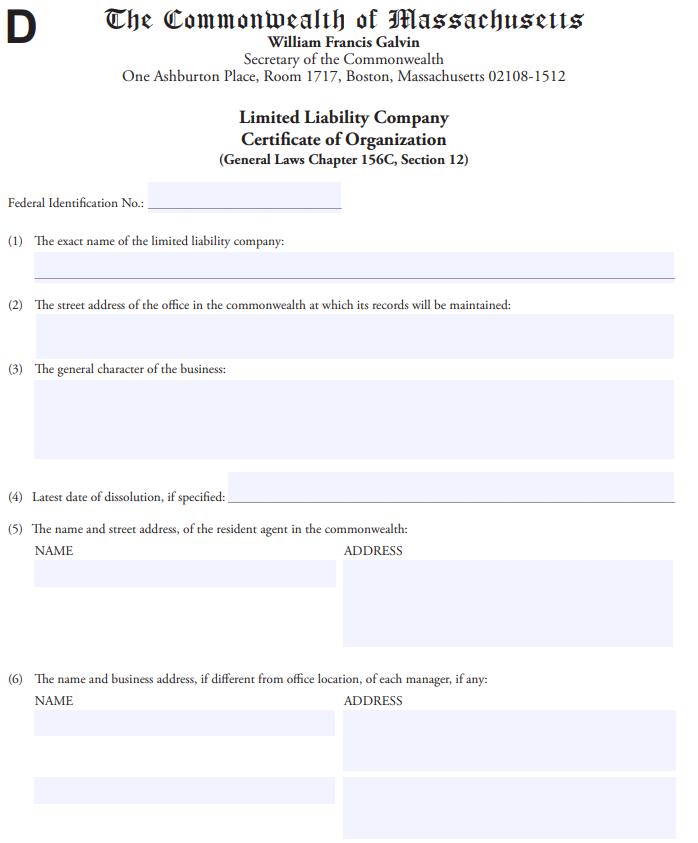 Wyoming LLC Articles Of Organization