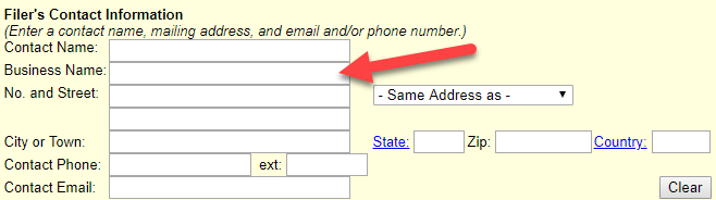 Massachusetts LLC Filer's Contact Information