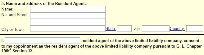 Massachusetts LLC Resident Agent