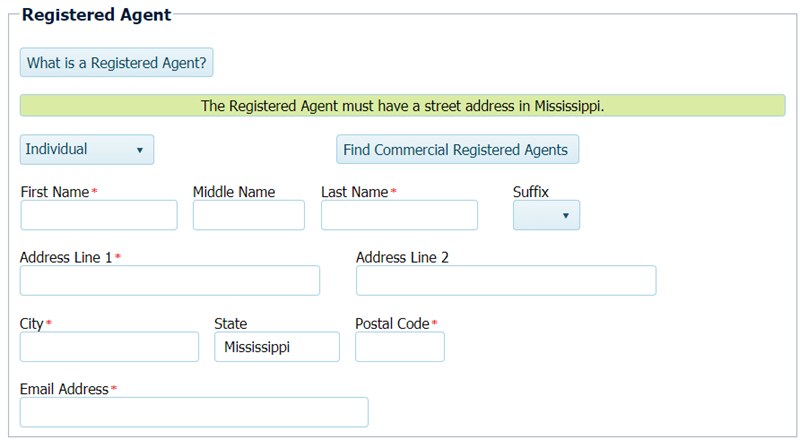 Mississippi LLC Registered Agent