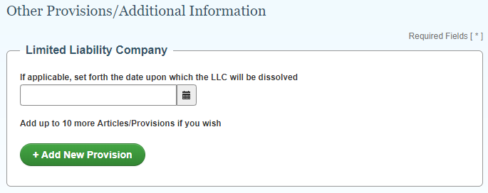 NJ LLC Other Provisions