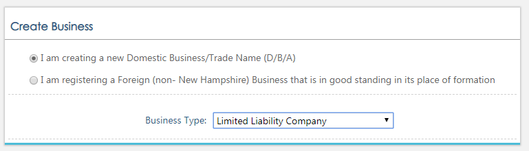 New Hampshire Creating a new LLC