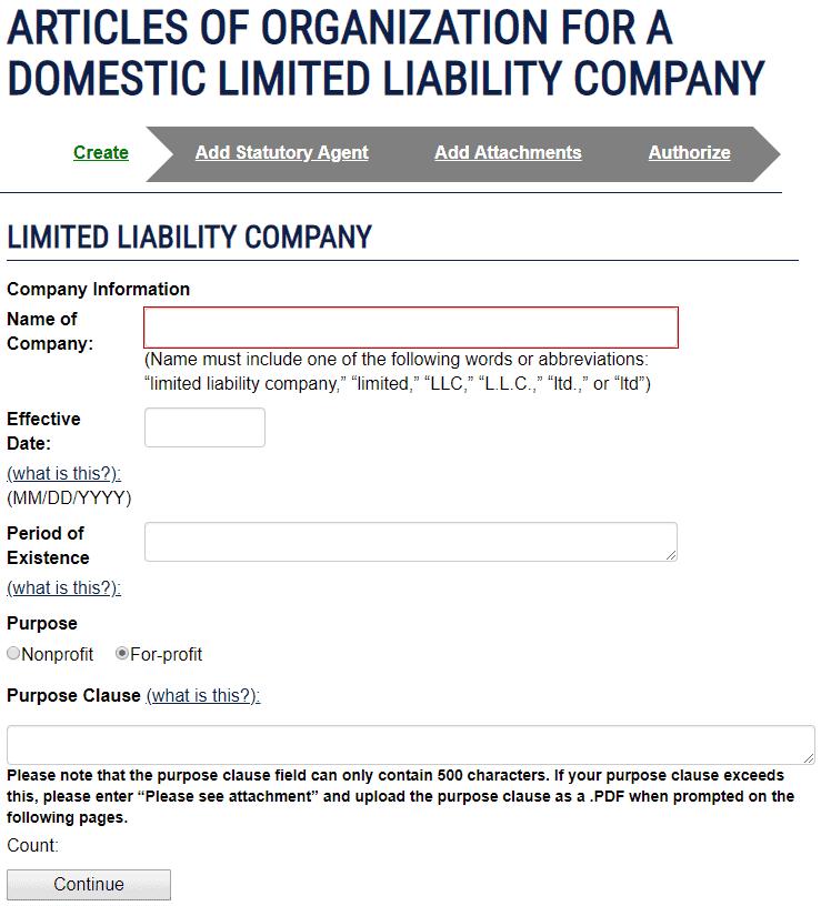 Ohio LLC Company Information