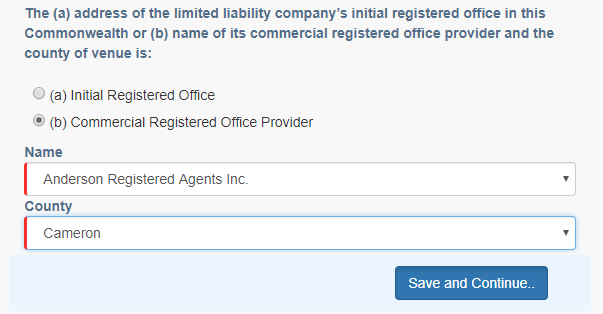 Pennsylvania LLC Registered Agent
