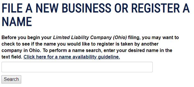 Register Ohio LLC Name