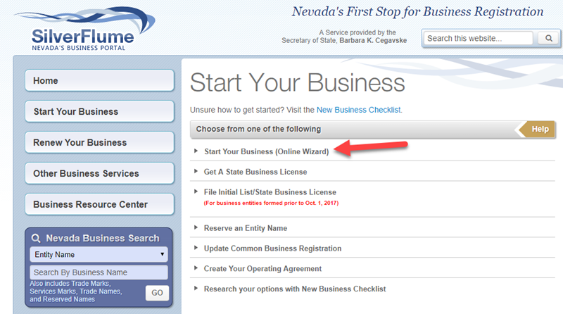 Start your LLC in Nevada