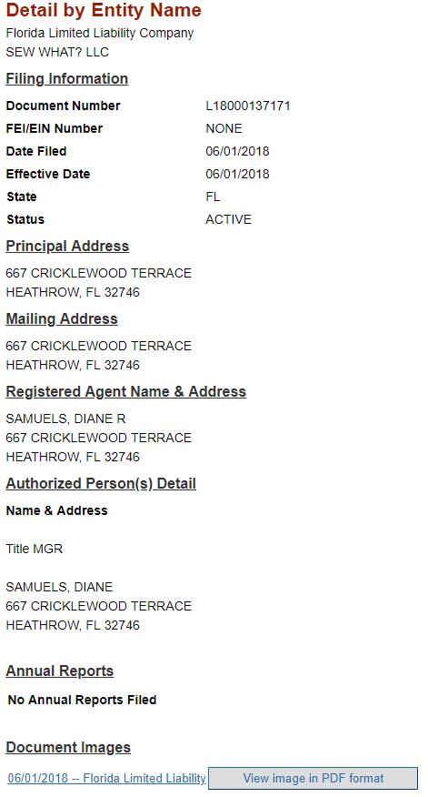 Business Name Details Florida Department of State