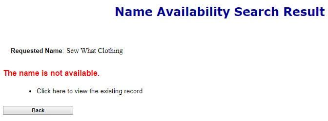 Colorado LLC Name Search