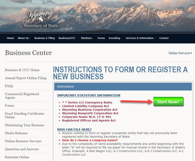 How to Form an LLC in Wyoming