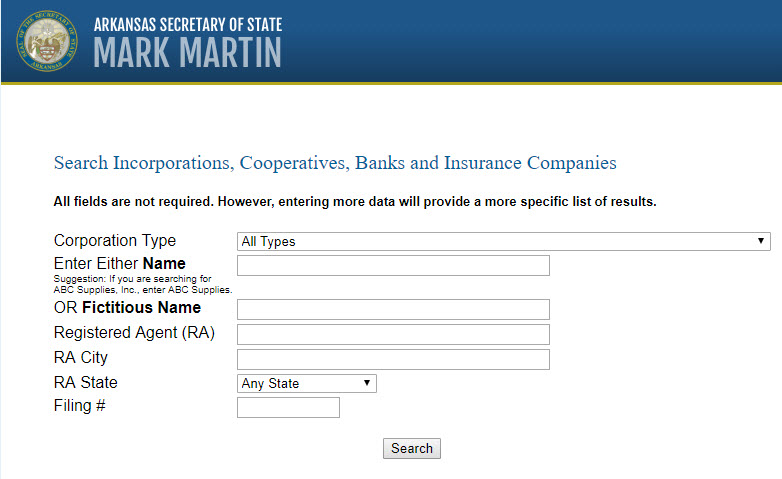 How to Register a corporation or LLC name in Arkansas