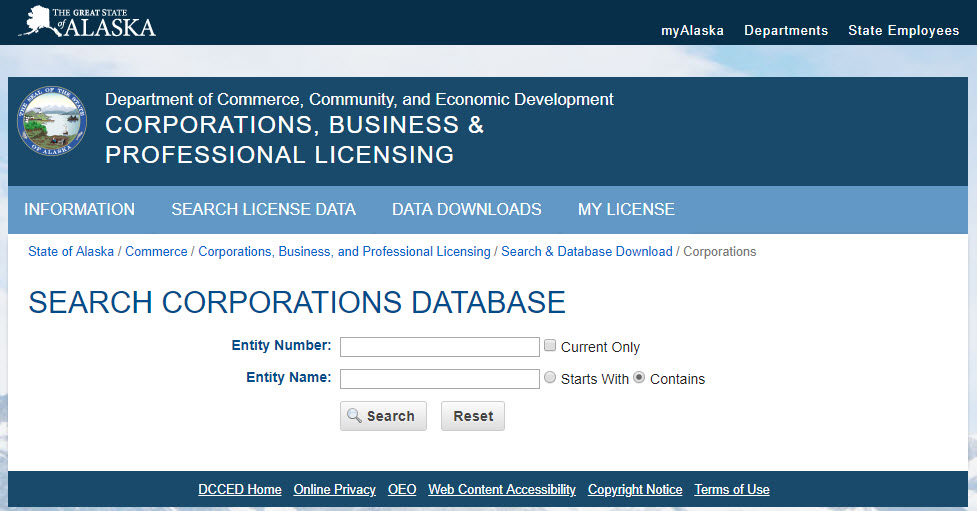 How to Search for an Alaska LLC Name