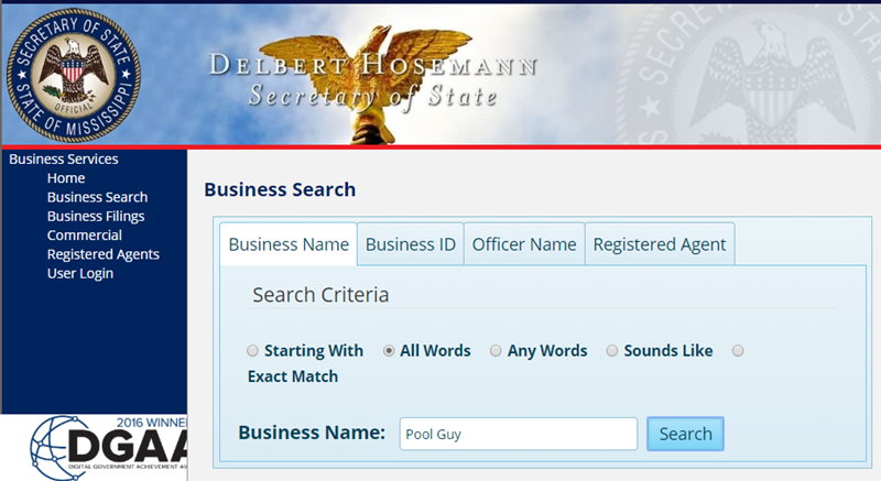 How to Search Available Business Names in Mississippi
