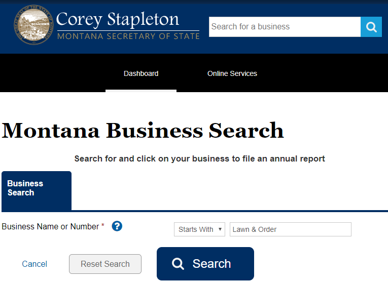 How to do a Business Name Search in Montana