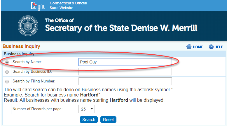 How to do a Connecticut Business Name Search