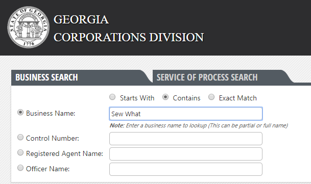 How to do a Georgia Business Name Search