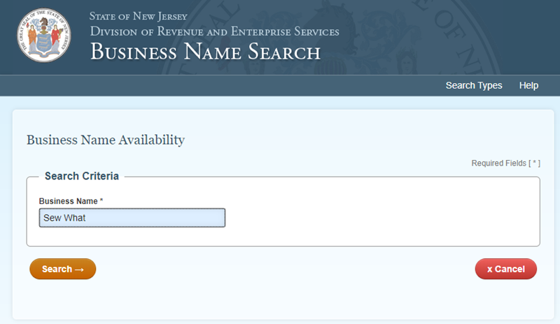 How to do a New Jersey Business Name Search