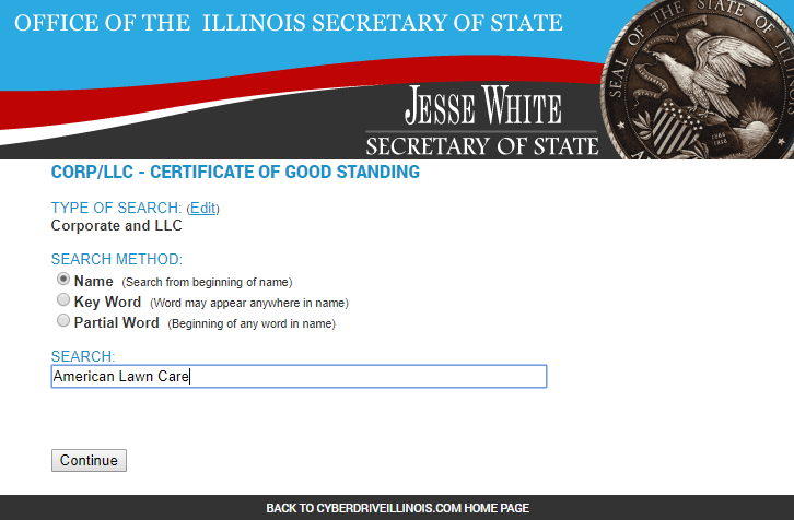 How to do a Business Name Search in Illinois