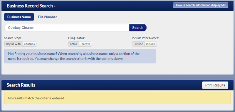 Minnesota Business Name Availability