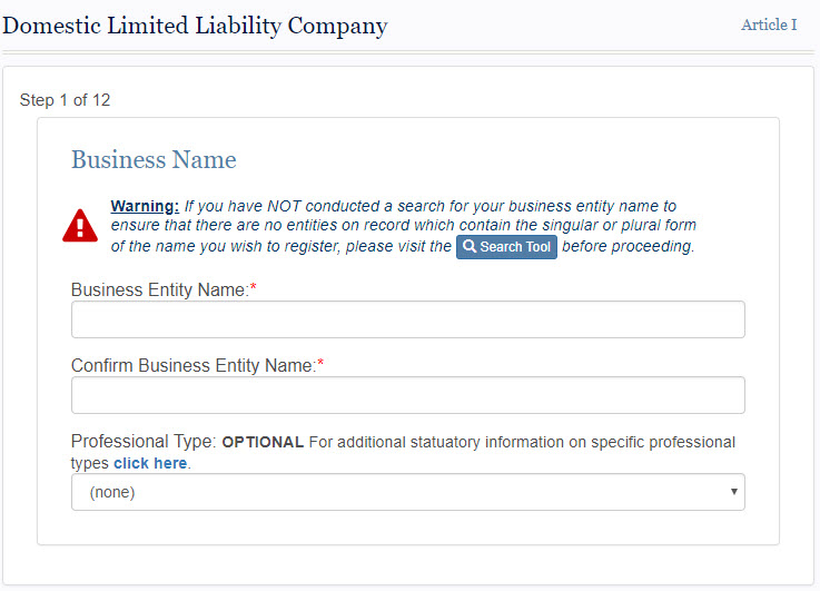 South Dakota LLC Name Registration