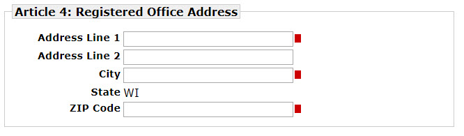 WI Registered Office Address