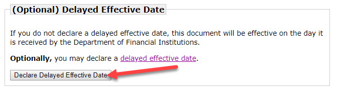 Wisconsin delayed effective date llc
