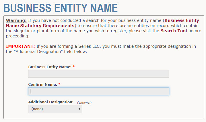 Wyoming LLC Name Registration