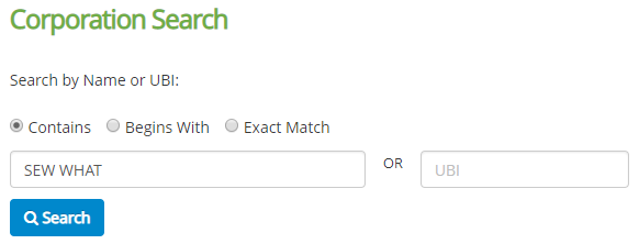 How to do a Washington Business Name Search