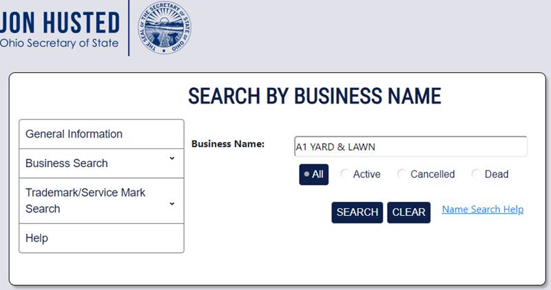 How to do an Ohio Business Name Search