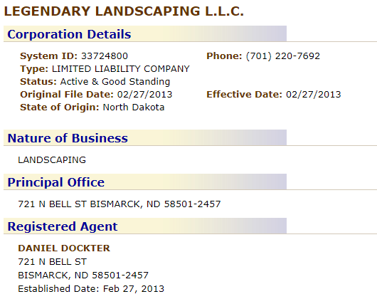 North Dakota LLC Name Search Results