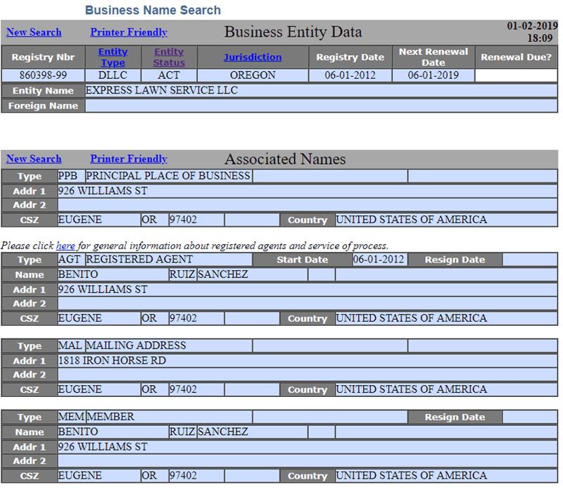 Oregon LLC Business Name Availability
