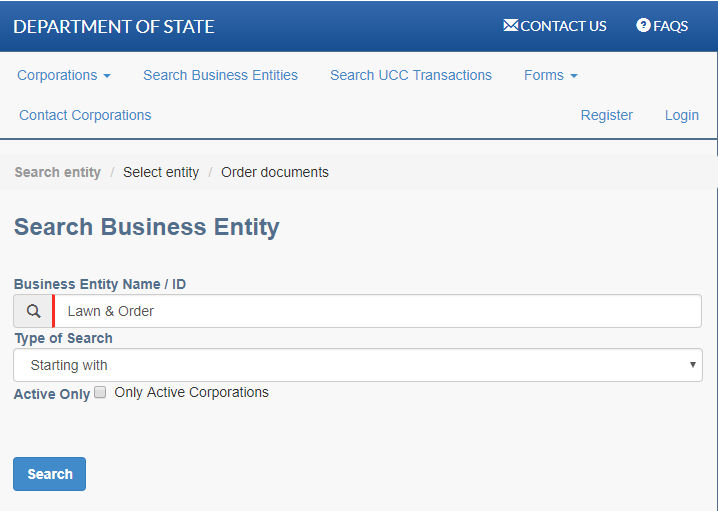 Pennsylvania Business Name Search