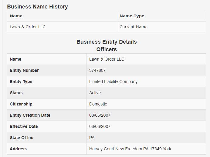 Pennsylvania LLC Name Search