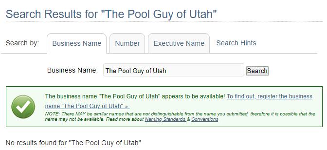 Utah Business Name Availability