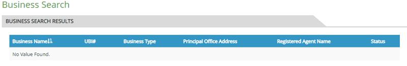 Washington Business Name Availability